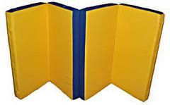 Мат гимнастический складной, иск. кожа, 1х2х0.1 м (в 4 сложения)