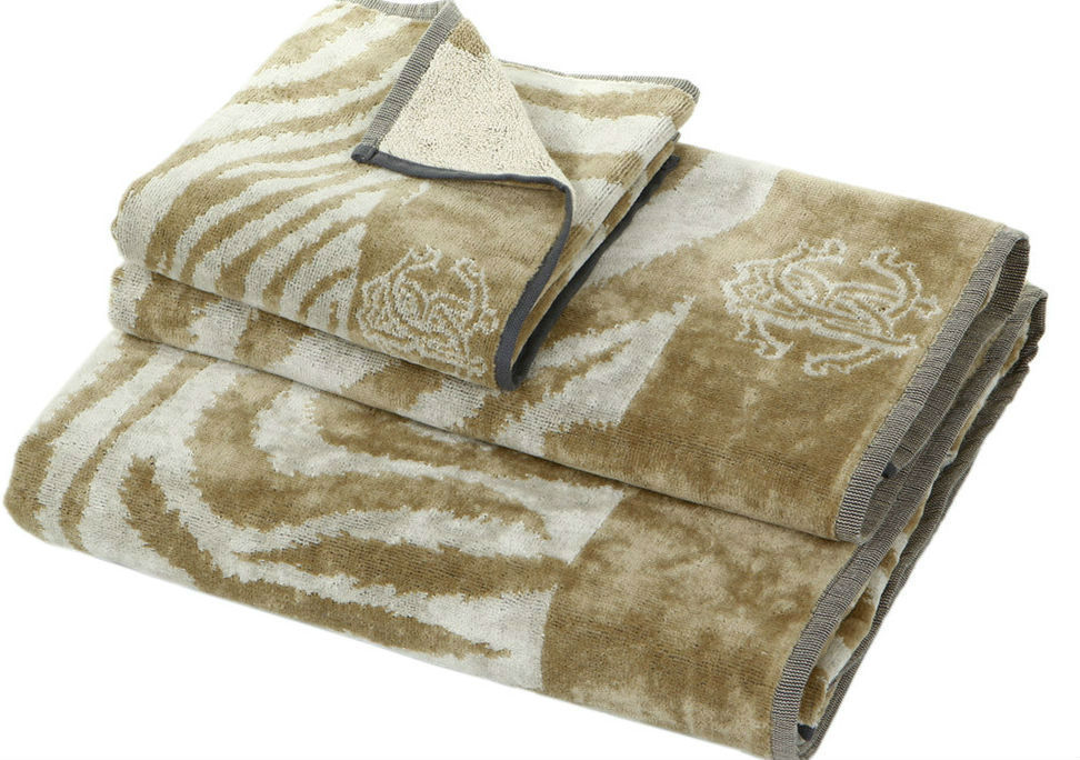Набор полотенец 2 шт Roberto Cavalli Zebra бежевый