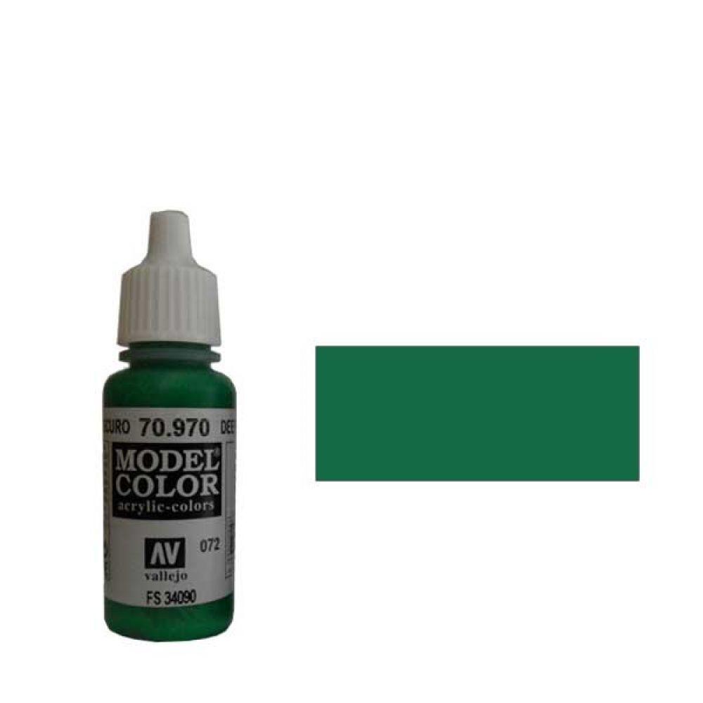 072. Краска Model Color Зеленый Темный 970 (Deep Green) укрывистый, 17мл