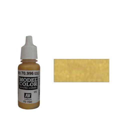 172. Краска Model Color Золотой 996 (Gold) металлик, 17мл