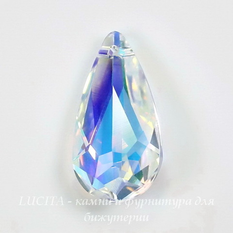 6100 Подвеска Сваровски Капля Crystal AB (24х12 мм)