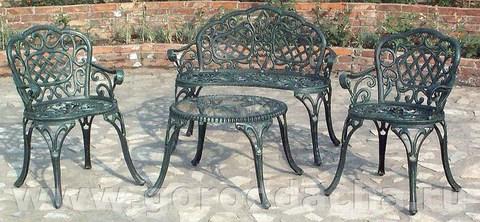 Литая чугунная мебель «Элегант»