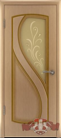Дверь Владимирская фабрика дверей 10ДО1, цвет светлый дуб, остекленная