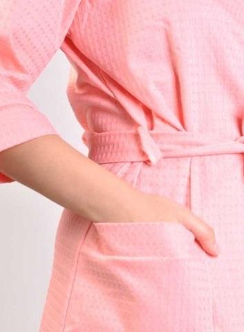 Элитный халат вафельный Nido d'Ape розовый от Mirabello