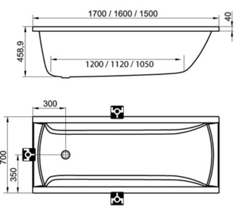 Ravak Classic Акриловая ванна 150*70(C521000000)