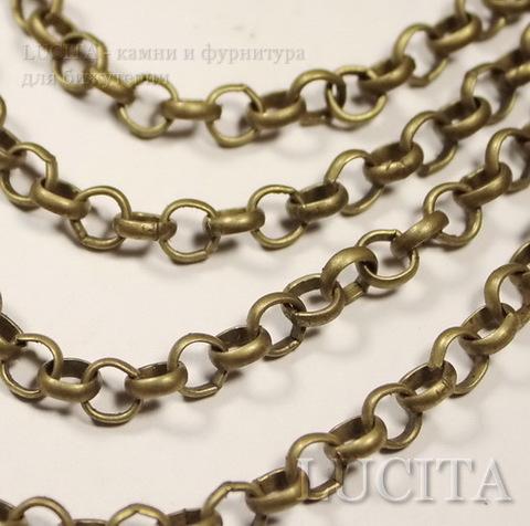 Цепь (цвет - античная бронза) 6 мм, примерно 10 м