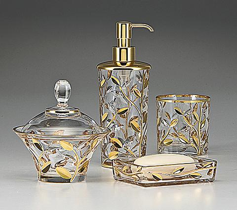 Набор элитных аксессуаров для ванной Crystal Vine Gold от Labrazel