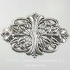 Винтажный декоративный элемент - штамп 94х62 мм (оксид серебра)