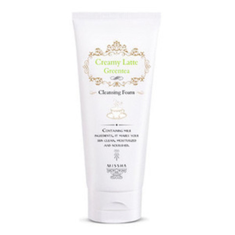 MISSHA Creamy Latte GreenTea Cleansing Foam