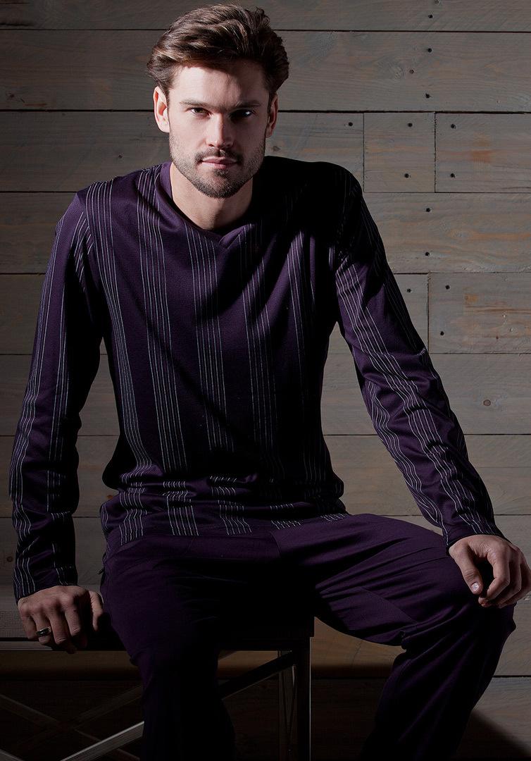 Фиолетовый мужской домашний костюм Verdiani (Домашние костюмы и пижамы)