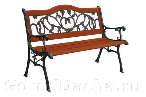 Скамейка чугунная садовая 348