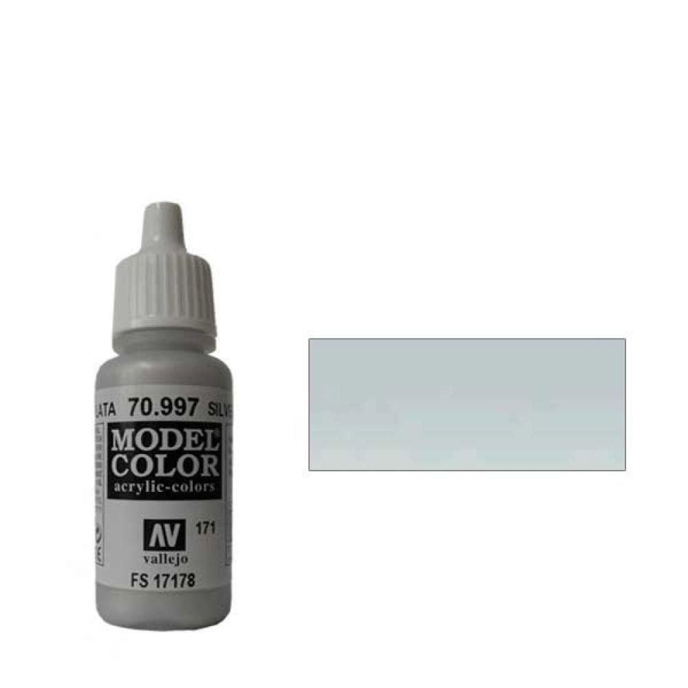 171. Краска Model Color Серебро 997 (Silver) металлик, 17мл