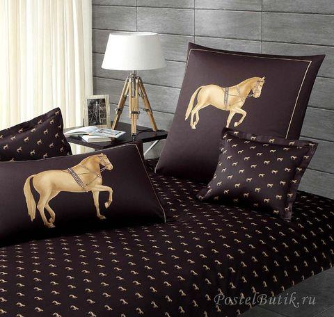 Элитная наволочка Equus антрацит от Elegante