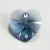 6202/6228 Подвеска Сваровски Сердечко Denim Blue (14,4х14 мм) ()
