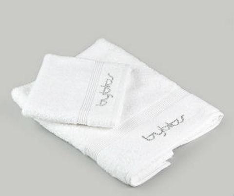 Набор полотенец 2 шт Byblos Cristall белый