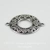 Винтажный декоративный элемент - коннектор филигранный (1-1) 22х17 мм (оксид серебра) ()