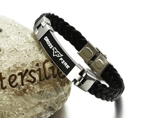 Мужской браслет из кожи и стали CrossFire mn00398