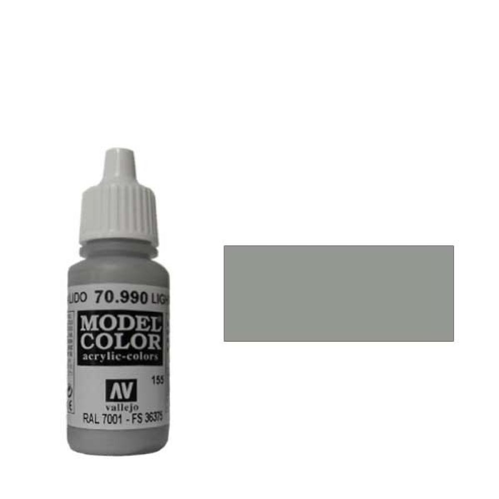 155. Краска Model Color Серый Светлый 990 (Light Grey) укрывистый, 17мл