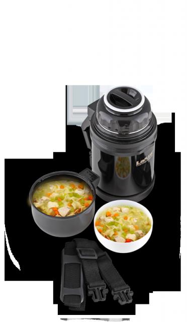 Термос универсальный (для еды и напитков) La Playa Traditional (1.2 литра) черный