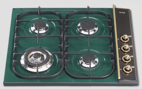Газовая варочная панель ILVE H 360 CNV-VS зеленый изумруд