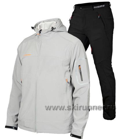 Лыжный утепленный костюм Mormaii Light Grey Noname Grassi