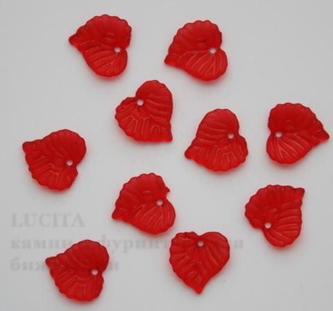 Акриловый листик красный 15х15 мм ,10 штук
