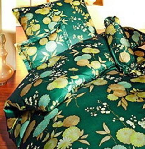 Элитная наволочка Kimono зеленая от Elegante