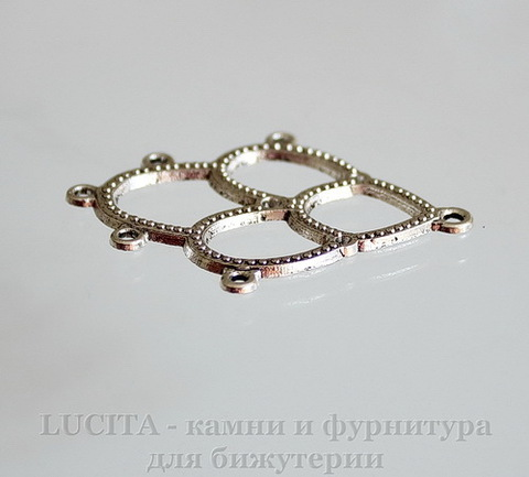 Коннектор (1-5) 44х34 мм (цвет - античное серебро)