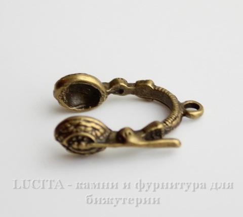 """Подвеска """"Наушники"""" (цвет - античная бронза) 26х19 мм ()"""
