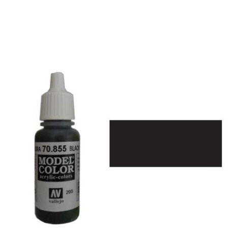 205. Краска Model Color Черный Патиновый 855 (Black Glaze) прозрачный, 17мл