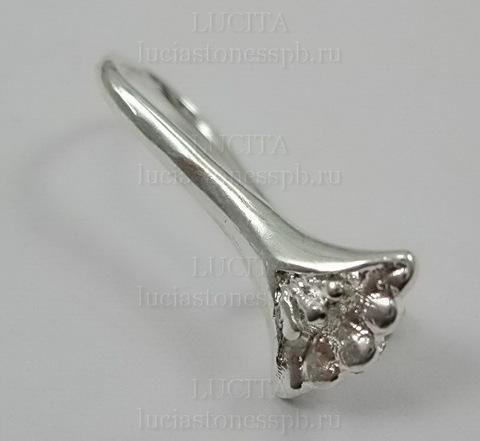 Швензы - крючки с держателем для подвески 21 мм (цвет - светлое серебро) ()