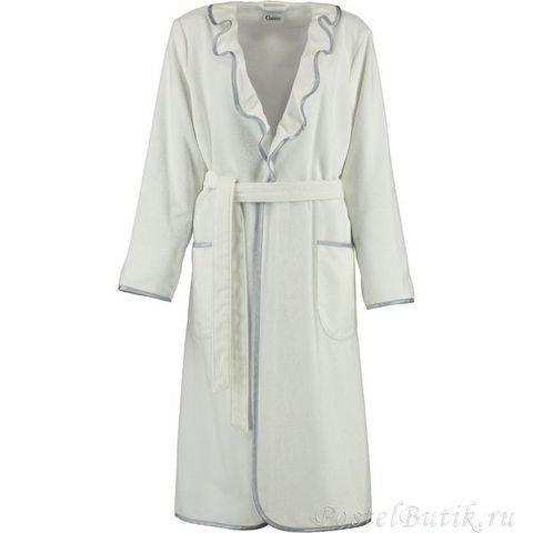 Элитный халат велюровый 4318 белый от Cawo