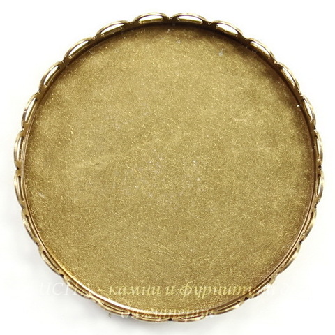 Сеттинг - основа для камеи или кабошона 35 мм (оксид латуни)