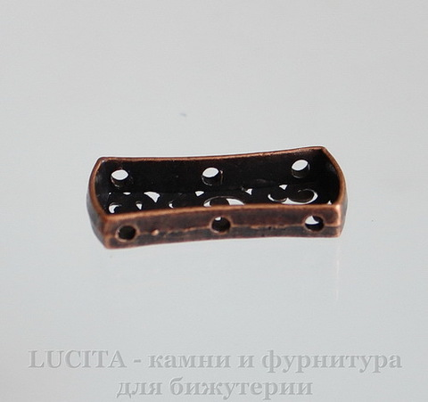 Разделитель на 3 нити (цвет - античная медь) 26х12х4 мм ()