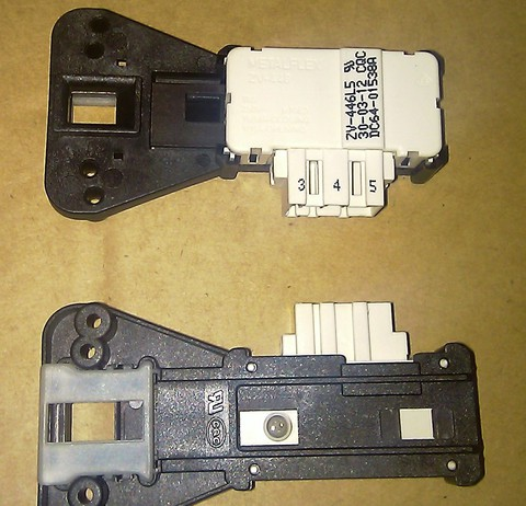 Устройство блокировки люка (УБЛ) для стиральной машины Samsung (Самсунг) - DC64-01538A, см.085194