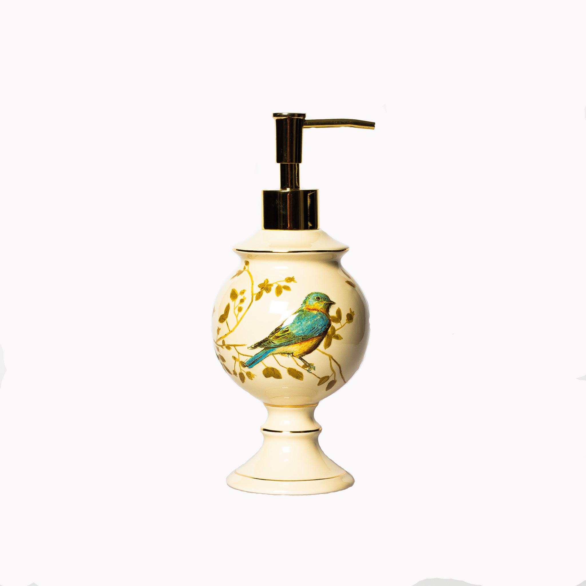 Дозатор для жидкого мыла Gilded Birds от Avanti