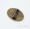 Основа для броши с сеттингом для кабошона 28х20 мм (цвет - античная бронза) 32х24 мм