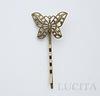 Основа для заколки - невидимки с филигранной бабочкой 31 мм, 65 мм (цвет - бронза) ()