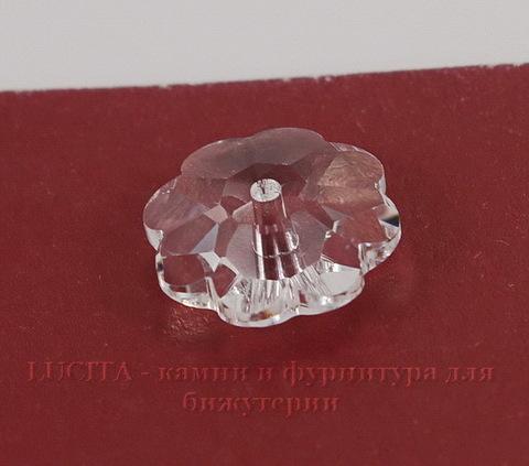 """3700 Бусина - рондель Сваровски """"Цветочек"""" Crystal 10 мм"""