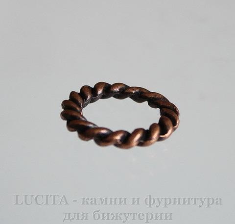 """Коннектор - кольцо """"Плетенка"""" 19 мм (цвет - античная медь) ()"""