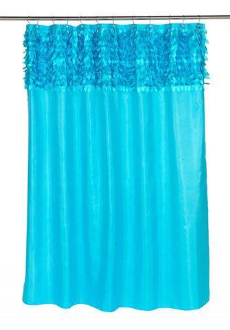 Элитная шторка для ванной Jasmine Cyan Blue от Carnation Home Fashions