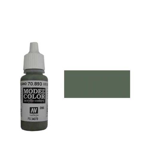 095. Краска Model Color Американский Темно-Зеленый 893 (US Dark Green) укрывистый, 17мл