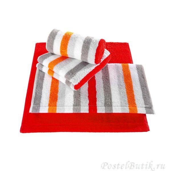 Полотенце 50x100 Cawo Life Style 7052 Sport Streifen оранжевое