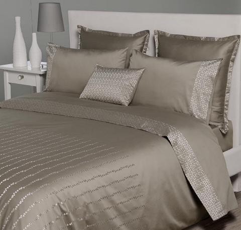 Постельное белье 1.5 спальное Bovi Elisa коричневое