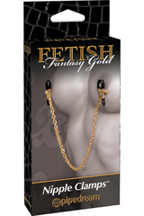 Зажимы на соски Fetish Fantasy Gold Chain Nipple Clamps