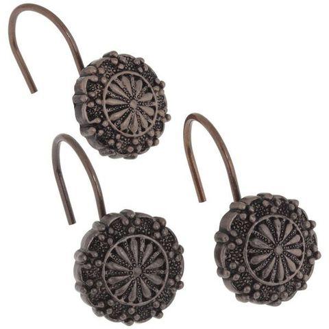 Набор из 12 крючков для шторки Sheffield Bronze от Carnation Home Fashions