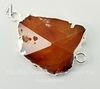 Коннектор (1-1) Агат с огранкой с фольгой (цвет - серебро) (№4 (40х27 мм))