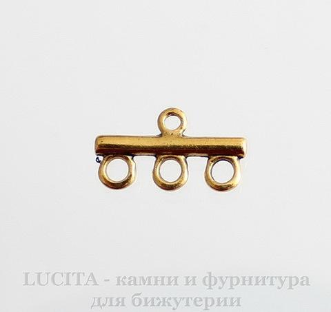 Коннектор (1-3) 21,5х11 мм (цвет - античное золото)