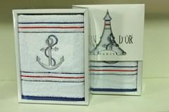 MARINE - МАРИНЕ полотенце махровое в коробке Maison Dor(Турция).