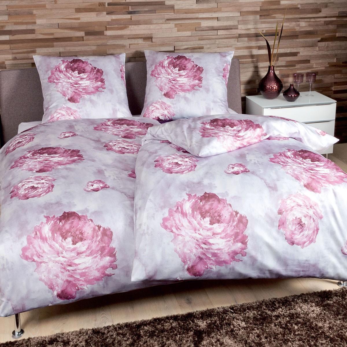 Комплекты постельного белья Постельное белье 1.5 спальное Janine Messina 4733 розовое elitnoe-postelnoe-belie-messina-4733-orchideenmauve-ot-janine-germaniya.jpg